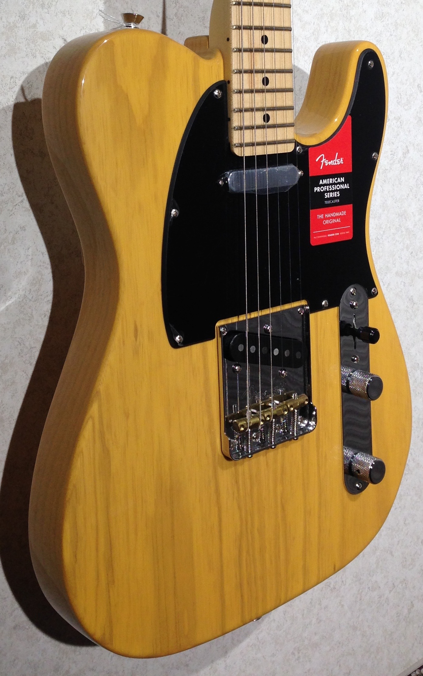 fender american professional telecaster butterscotch blonde maple fingerboard legacy music